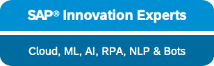 sap innovation experts rpa machine learning ai artificial intelligence natural languages bots
